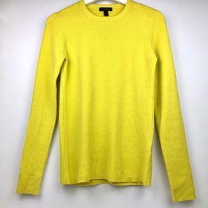 J. Crew Neon Yellow Ribbed Sweater
